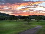 Amazing sunsets over the golf course