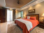 Another view of the master suite with king bed