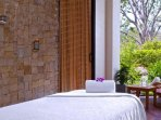 Massage and spa services at the private beach club