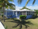 Coconut Cabana site on 2 lots on White Sound, Private, tropical and peaceful.
