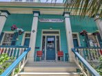 This colorful 2-bedroom, 2-bathroom bungalow is the perfect vacation rental apartment in Galveston for 4 guests who...
