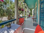 The porch is perfect for enjoying your morning coffee in one of Galveston's oldest and most charming neighborhoods.