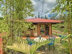 Situated on 1 acre of tropical beauty, the lovely cottage is exquisitely decorated for a memorable stay.