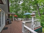 Breathe in the fresh air from your large, private deck.