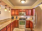 The fully equipped kitchen has everything you'll need to prepare meals during your stay.