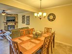 The dining area is opening to the living room, making it easy for everyone in the house to converse.
