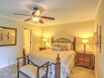 Enjoy restful nights of sleep in the plush queen bed in the master bedroom.