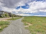 The friendly and picturesque neighborhood is within steps to a trail system.