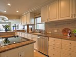 With stainless steel appliances and an abundance of counter space, cooking for the family has never been easier.