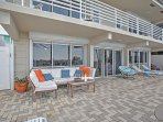 Look forward to sipping your morning coffee on the spacious patio area.