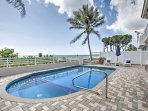 Take in the sweeping beach views while you enjoy this private, heated swimming pool.