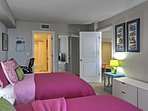 The second bedroom features 2 full-sized beds that will ensure many peaceful slumbers.