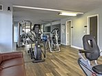 Have a quick workout in the community fitness room.