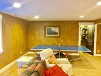 Have fun in the spacious recreation room!