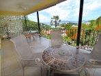 Huge veranda with amazing views!