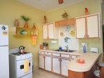 Fully stocked kitchen with everything you need for your stay!