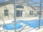 Pool, Water, Building, Canopy, Bench