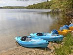 A provided canoe, sailboat and 2 kayaks ensure you'll enjoy exciting lake adventures during your stay.