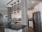 Large New Kitchen, New Cabinets with modern under cabinet lighting