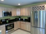 Gourmet Kitchen features top-rated new Stainless Steel Appliances, Granite Counters