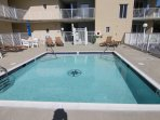 Pool Deck with Condo Balconies on the right
