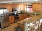 Large Modern Kitchen with Granite Counters