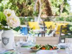 Enjoy alfresco dining in our outdoor dining area!