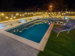 Swiming pool by night