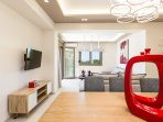 Having 2 living, dining & kitchen can offer even more privacy among guests