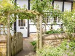 The stunning front garden is perfect for those warmer months