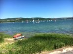 There is loads to do around Bligny - watersports at Lac de Panthier...