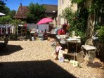 visiting the 'vide greniers',or  boot sales, which can be found in many villages during the summer,