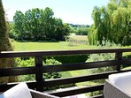 Views over two acre enclosed garden and beautiful countryside from the large balcony