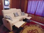 Love sofa / recliner set  with full scenic view . TV with Roku tv online  fastest internet