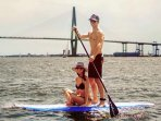 SUP in the wando.Paddled out by the Ravenel Bridge. Hope you spot dolphins ! SUP available for guest