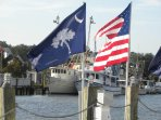 Shem Creek and the fleet boats. The Palmetto state!