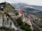 Klis Fortress known as Meereen from the Game of Thrones