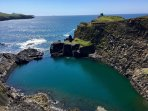 The Blue Lagoon, Abereiddy. A regular stop on the Red Bull World cliff diving series.