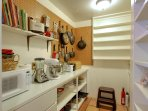Old fashioned butler's pantry helps reduce clutter