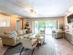 1st Level Family Room opens to Deck and Pool Area