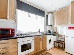 Kitchen - Oven - Grill - Microwave - Fridge - Freezer - Kettle - Toaster - Utensils - Cutlery.