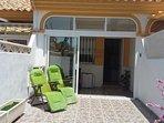 Modern town house, spacious accommodation, private patios, 3 mins walk to beach