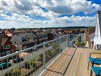 Large balcony, above the bridlington rooftops