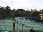 Bring your rackets - 10 lighted courts available free for guest.