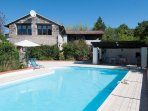 Beautiful converted barn with private salt water pool in the southwest of France