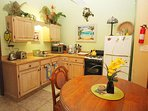 Full kitchen with everything you need for your stay!