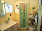 Nicely decorated bathroom!