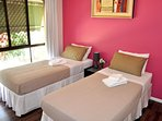 A two king single bed's room can be also made into one king size bed according to guest's preference