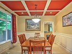 Share a good laugh over a good meal in the formal dining room.