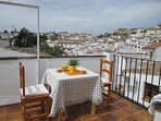 Private Roof terrace with views over Ronda